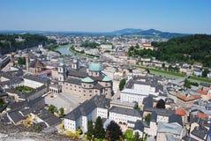 Vista sopra Salisburgo Immagine Stock Libera da Diritti