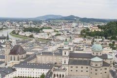 Vista sopra Salisburgo, Austria Immagine Stock Libera da Diritti