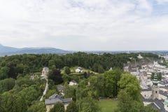 Vista sopra Salisburgo, Austria Fotografia Stock Libera da Diritti