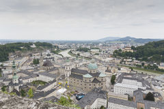 Vista sopra Salisburgo, Austria Immagini Stock Libere da Diritti