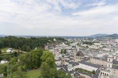 Vista sopra Salisburgo, Austria Immagine Stock