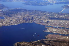 Vista sopra Seattle Fotografia Stock Libera da Diritti
