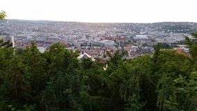 Vista sopra Stuttgart immagini stock libere da diritti