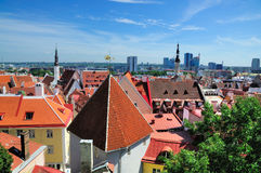 Vista sopra Tallinn fotografie stock