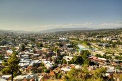 Vista sopra Tbilisi Fotografia Stock