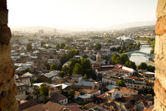 Vista sopra Tbilisi Fotografie Stock