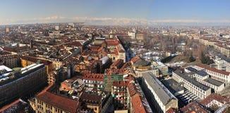 Vista sopra Torino, Italia Fotografia Stock Libera da Diritti