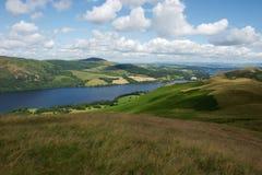 Vista sopra Ullswater nel distretto del lago fotografia stock