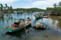Vista sopra un fiume in Phu Quoc (Vietnam) immagini stock libere da diritti