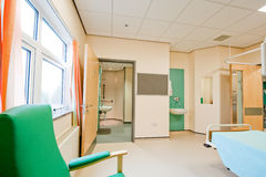 Vista sopra una stanza di ospedale moderna Fotografia Stock