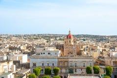 Vista sopra Victoria, isola di Gozo, Malta fotografie stock libere da diritti
