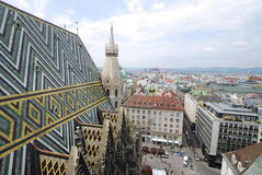 Vista sopra Vienna Fotografia Stock