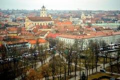 Vista sopra Vilnius, Lituania Fotografie Stock