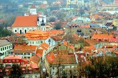 Vista sopra Vilnius, Lituania Fotografia Stock