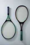 Vista sopraelevata delle racchette di tennis Fotografia Stock Libera da Diritti