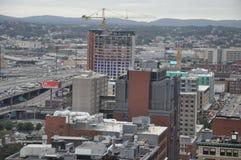 Vista sopraelevata di Boston, Massachusetts Fotografia Stock Libera da Diritti