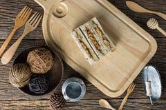Vista sopraelevata di pane di recente al forno Fotografie Stock Libere da Diritti