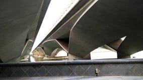 Vista sotto il ponte del lungomare, Singapore Fotografie Stock