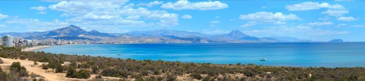 Vista Spagna della costa della città di Benidorm Fotografia Stock