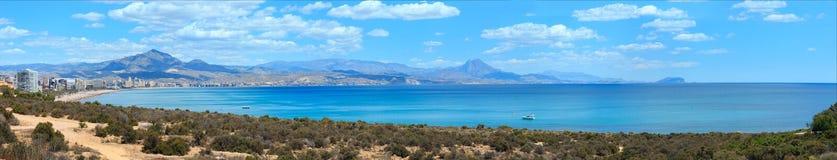 Vista Spagna della costa della città di Benidorm Immagini Stock