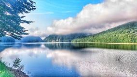 Vista spettacolare del lago fotografia stock