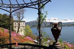 Vista spettacolare del lago Como Fotografia Stock