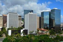 Vista spettacolare della città di Honolulu, Oahu Immagini Stock