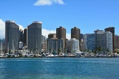 Vista spettacolare della città di Honolulu, Oahu Fotografia Stock