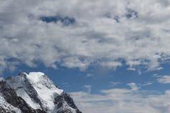 Vista spettacolare per montare il massiccio di Blanc da un observati di 360 gradi Fotografia Stock Libera da Diritti