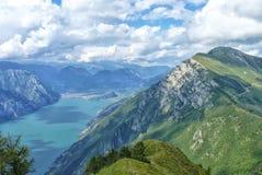 Vista splendida dalle alpi italiane Immagini Stock Libere da Diritti