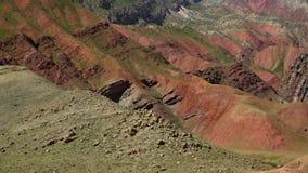 Vista splendida delle colline colourful video d archivio