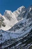Vista strabiliante delle montagne nevose Fotografia Stock Libera da Diritti