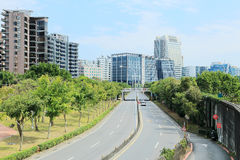 Vista of a street in Neihu district, Taipei City, Taiwan Royalty Free Stock Photo