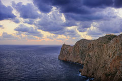 Vista stupefacente al mare ed alla costa in Mallorca Fotografia Stock Libera da Diritti