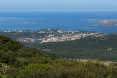 Vista stupefacente alla città di Argostoli, Kefalonia, la Grecia Fotografia Stock Libera da Diritti