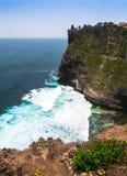 Vista stupefacente dal tempio di Pura Uluwatu, Bali, Indonesia Immagini Stock Libere da Diritti