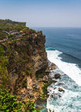 Vista stupefacente dal tempio di Pura Uluwatu, Bali, Indonesia Immagine Stock Libera da Diritti