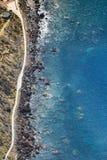 Vista stupefacente dall'più alta scogliera di Cabo Girao sulla spiaggia, oce Fotografia Stock Libera da Diritti