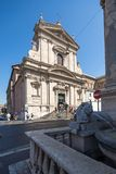 Vista stupefacente dei Di Santa Maria della Vittoria di Chiesa a Roma, Italia fotografia stock libera da diritti