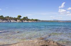 Vista stupefacente del mare - paradiso nella natura Immagini Stock Libere da Diritti