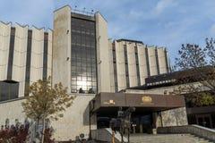 Vista stupefacente del palazzo nazionale di cultura a Sofia, Bulgaria Fotografia Stock Libera da Diritti