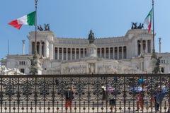 Vista stupefacente dell'altare del della Patria di Altare di patria, conosciuto come il monumento nazionale a Victo Fotografia Stock