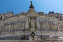 Vista stupefacente dell'altare del della Patria di Altare di patria, conosciuto come il monumento nazionale a Victo Fotografie Stock