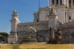 Vista stupefacente dell'altare del della Patria di Altare di patria, conosciuto come il monumento nazionale a Victo Immagini Stock