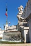 Vista stupefacente dell'altare del della Patria di Altare di patria, conosciuto come il monumento nazionale a Victo Immagine Stock Libera da Diritti