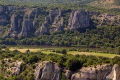 Vista stupefacente della gola di Iskar, Bulgaria Fotografie Stock