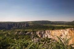 Vista stupefacente della gola di Iskar, Bulgaria Immagini Stock