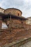 Vista stupefacente della st George Rotunda della chiesa a Sofia, Bulgaria Fotografia Stock