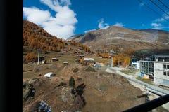Vista stupefacente di autunno della località di soggiorno di Zermatt, cantone del Valais Fotografie Stock