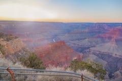Vista stupefacente di panorama di Grand Canyon accanto a Hopi Point Fotografia Stock Libera da Diritti